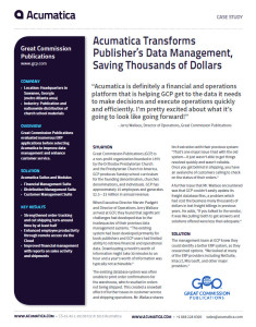 Acumatica Case Study Great Commission Publications