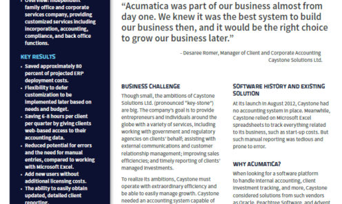 Caystone Solutions Case Study