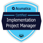Acumatica Implementation Project Manager Badge
