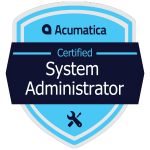 Acumatica System Administrator Badge