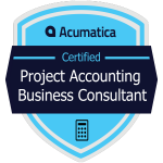 Acumatica Project Accounting Business Consultant Badge