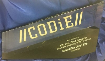 Acumatica 2017 CODiE Award_for Best Cloud ERP
