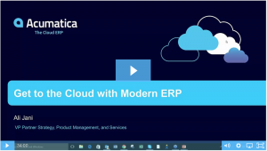 Get to the Cloud with Modern ERP On-Demand Webinar