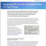 A 5-Step Process for ERP Selection and Implementation White Paper