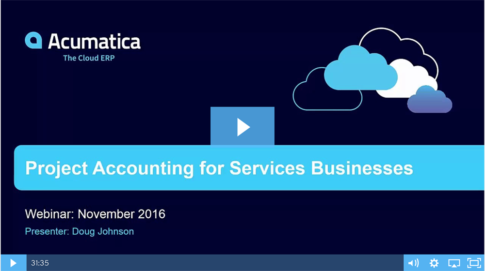 Project Accounting for Service Businesses Webinar