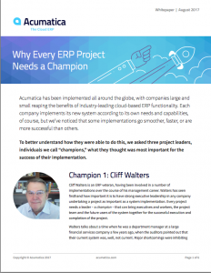 Why Every ERP Project Needs a Champion White Paper