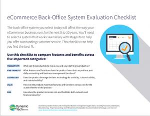 Acumatica eCommerce Evaluation Checklist