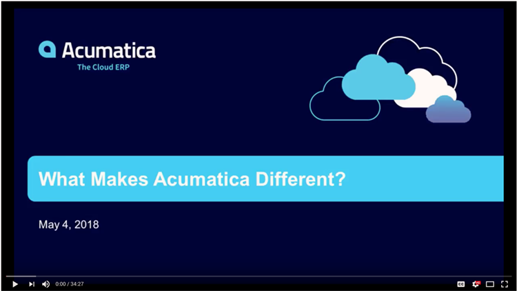 What Makes Acumatica Different On Demand Webinar