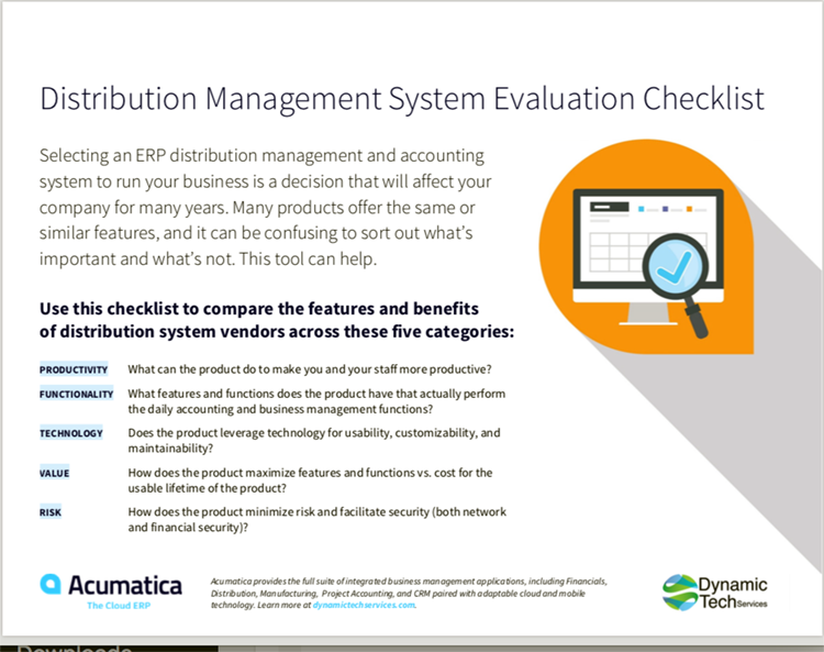 Distribution ERP Evaluation Checklist