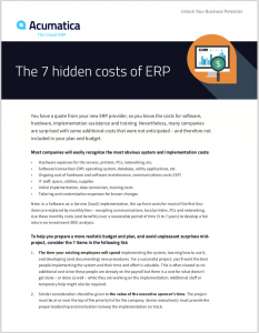 7 Hidden Costs of ERP
