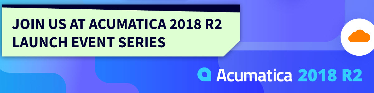 JoinUs Acumatica 2018R2 Launch
