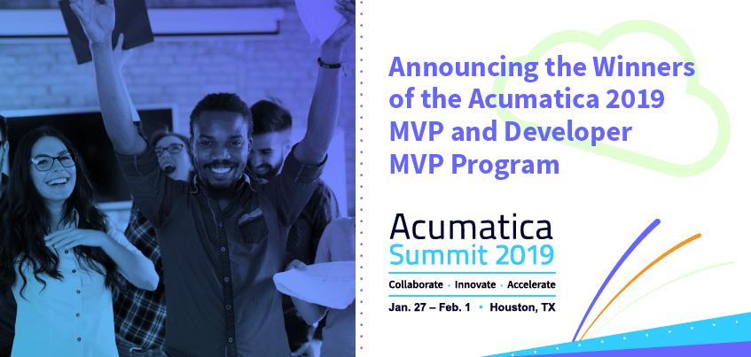 Acumatica 2019 MVP Announcement