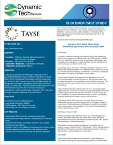 Tayse Customer Case Study Acumatica