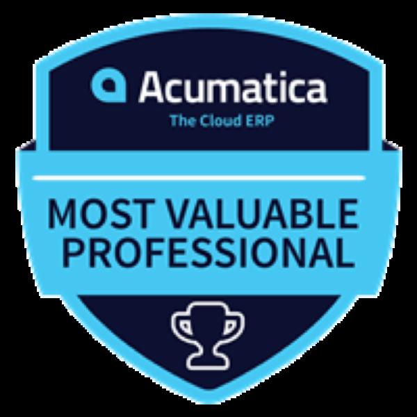 Acumatica 2021 MVP Award Winners