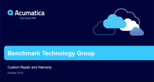 Benchmark Technology Group Acumatica Case Study