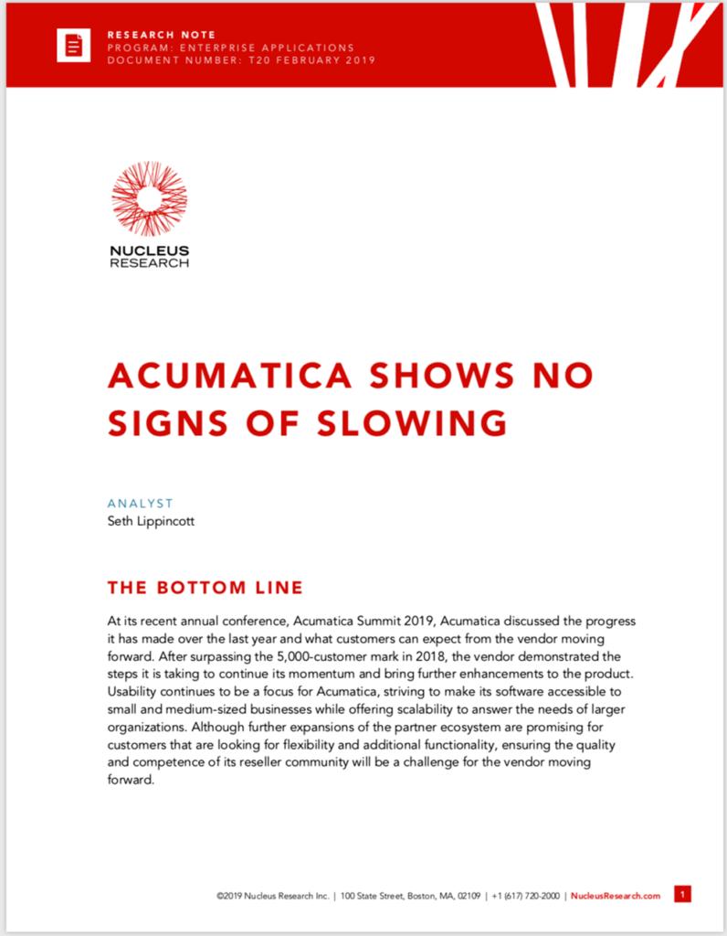 Latest Acumatica Innovations