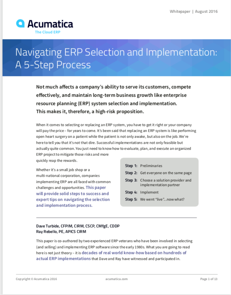ERP Selection Guide
