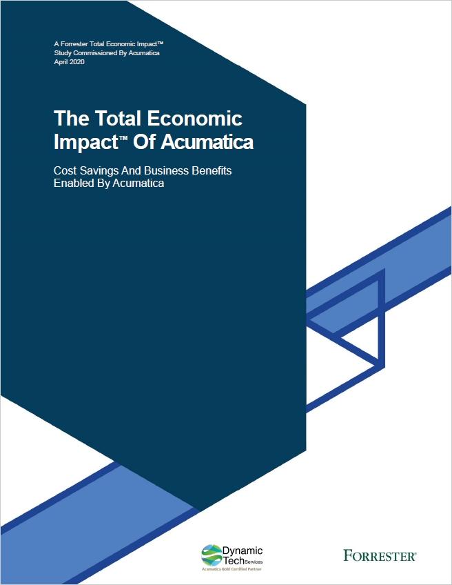 The Total Economic Impact of Acumatica White Paper