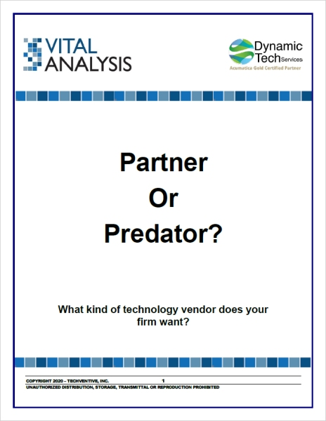ERP Vendor Selection: Find a Partner, Not a Predator White Paper