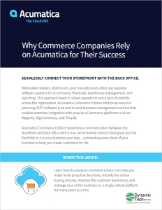 Why Commerce Companies Rely on Acumatica for Their Success eBook