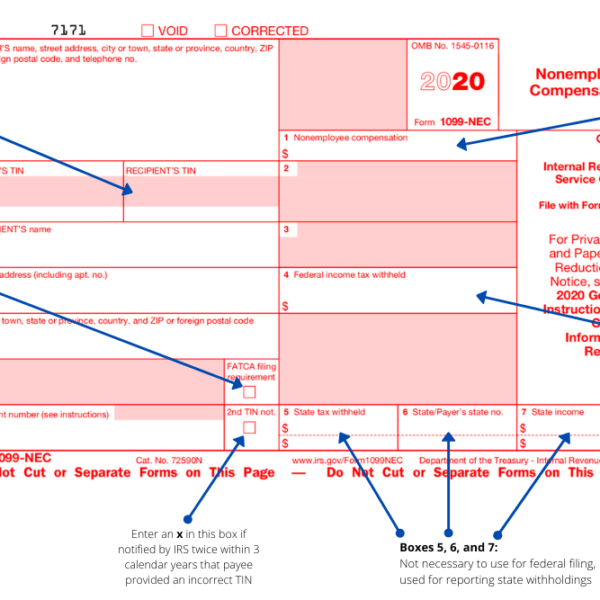 How to Use the New 1099-NEC Form for 2020