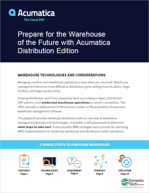 Prepare for the Warehouse of the Future with Acumatica Distribution Edition