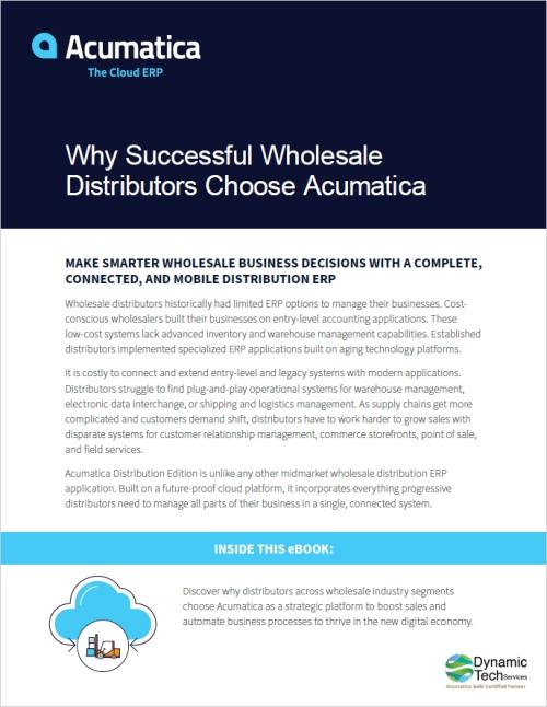 Why Successful Wholesale Distributors Choose Acumatica eBook