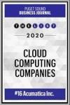 Puget Sound Business Journal Cloud Computing Companies 2020