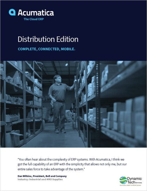 Acumatica Distribution Edition Brochure