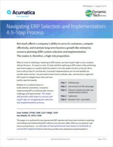 Navigating the ERP Selection Process