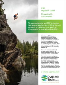 ERP Migration Guide: Microsoft Dynamics SL to Acumatica