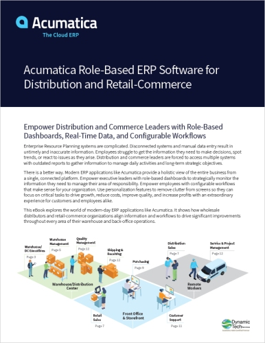 Acumatica Role-Based ERP Software for Distribution and Retail-Commerce eBook