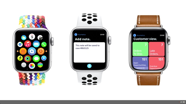 What Did You Miss at Acumatica Summit 2021 - Acumatica 2021 R2 Apple Watch Integration