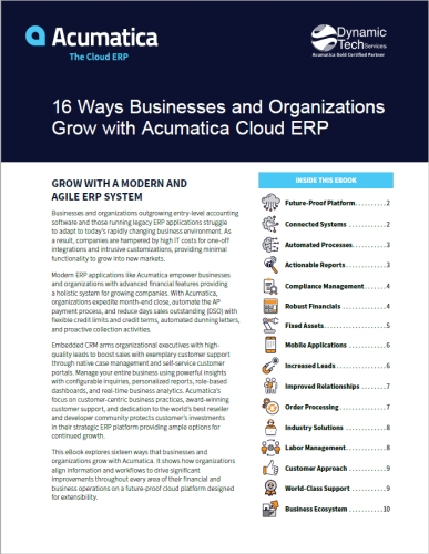 16 Ways to Grow Your Business With Acumatica